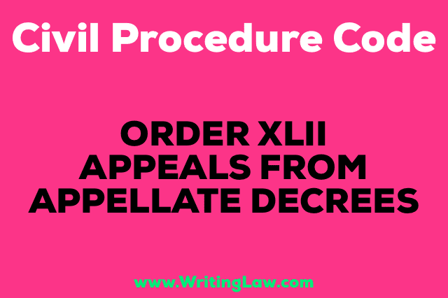 APPEALS FROM APPELLATE DECREES