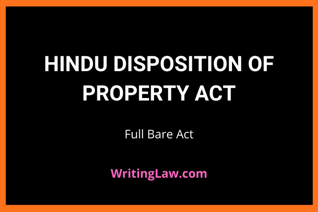 Hindu Disposition of Property Act