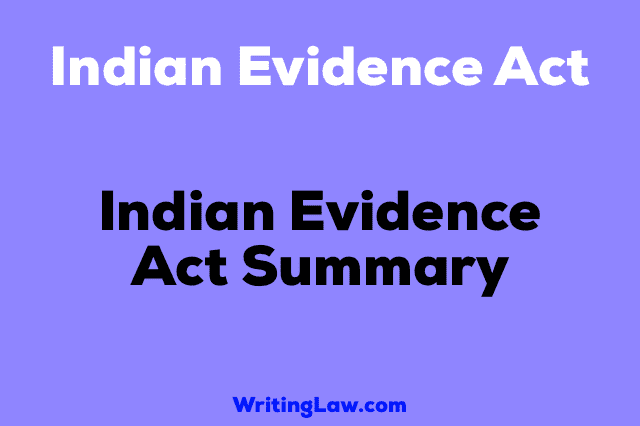 Indian Evidence Act Summary