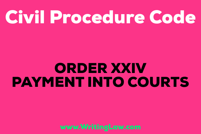 PAYMENT INTO COURT