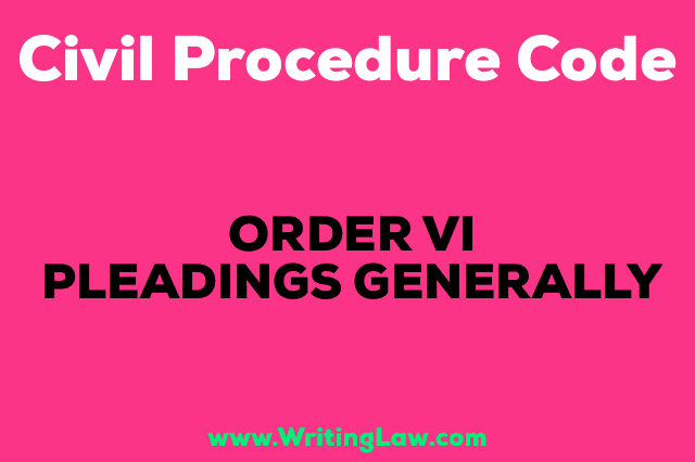 PLEADINGS GENERALLY