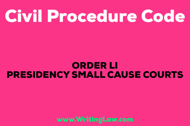 PRESIDENCY-SMALL-CAUSE-COURTS CPC