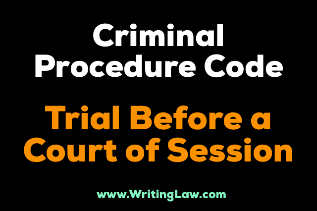 trial before court of session CrPC
