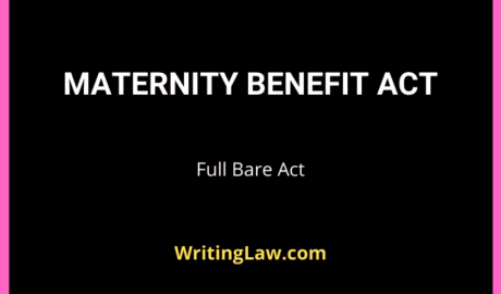 Maternity Benefit Act Full Updated Bare Act