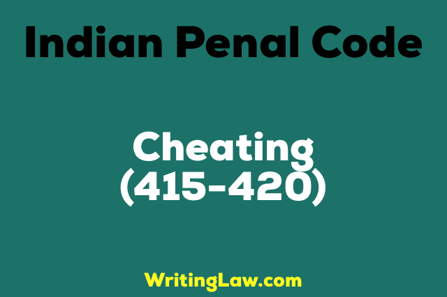 Cheating IPC