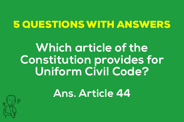 Article 44 Uniform Civil Code