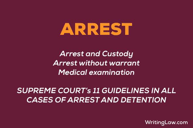 Arrest explained