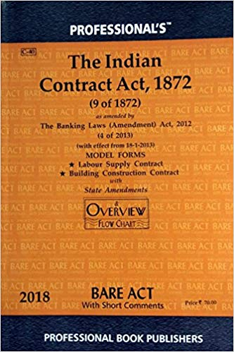 Contract Act Bare Act by Professionals
