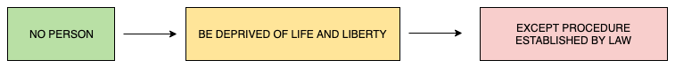 No person can be deprived of life and liberty