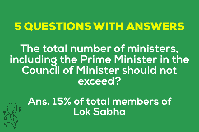 Total number of ministers