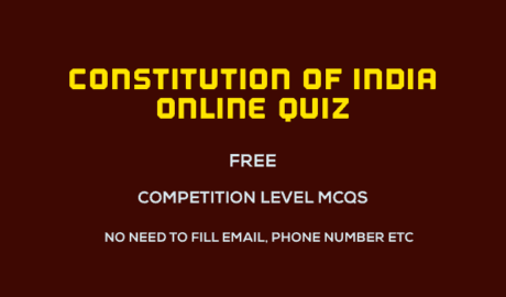 Indian Constitution Quiz Questions Free Online Test with PDF