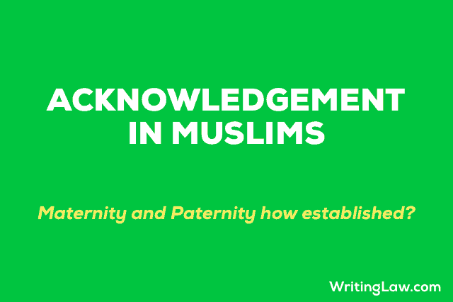 Acknowledgement of Child in Muslims