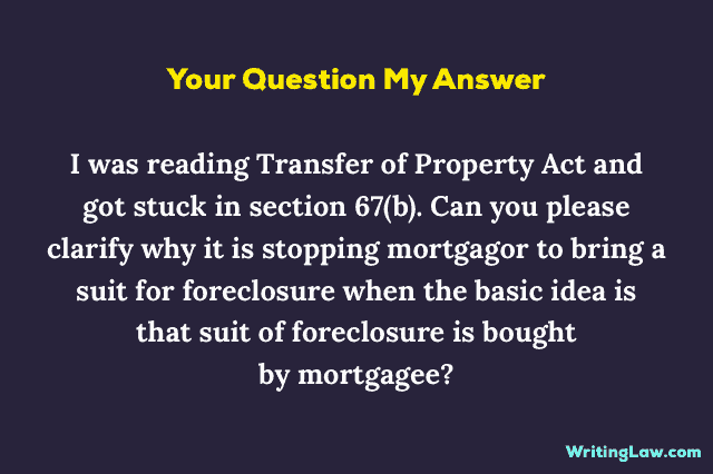 Suit for Foreclosure of Mortgage Meaning