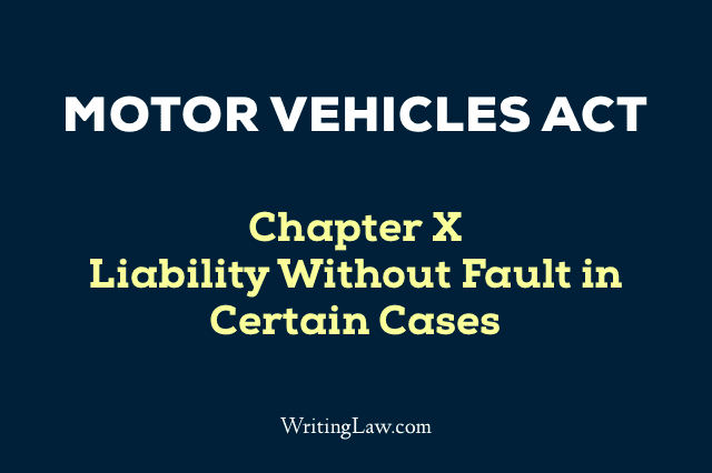 Motor Vehicles Act Chapter 10