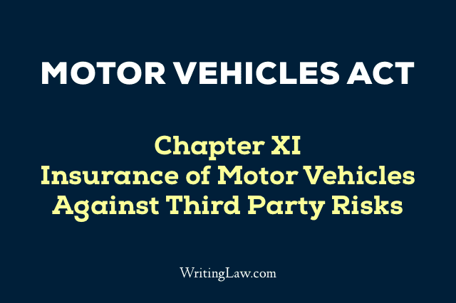 Motor Vehicles Act Chapter 11