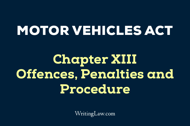 Motor Vehicles Act Chapter 13