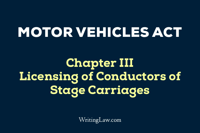 Motor Vehicles Act Chapter 3
