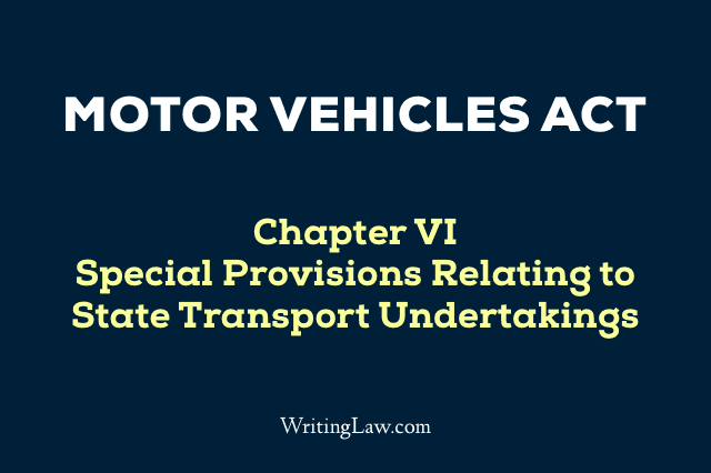 Motor Vehicles Act Chapter 6