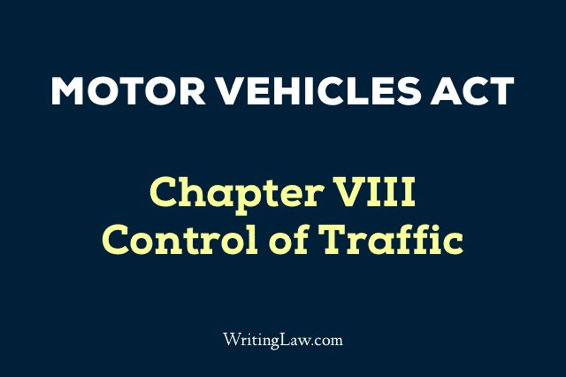 Motor Vehicles Act Chapter 8