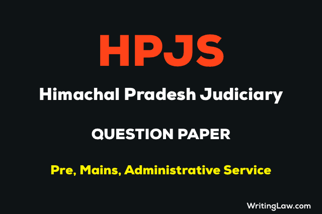 Himachal Pradesh Judiciary previous year question papers