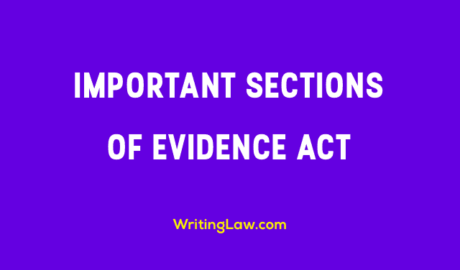 Important Sections of Evidence Act