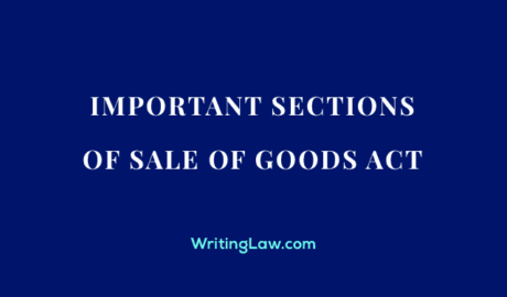 Important Sections of Sale of Goods Act