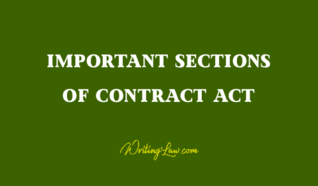 List of Important Contract Act Sections