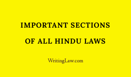 List of Important Sections of Hindu Law