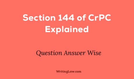 Section 144 of CrPC Explained