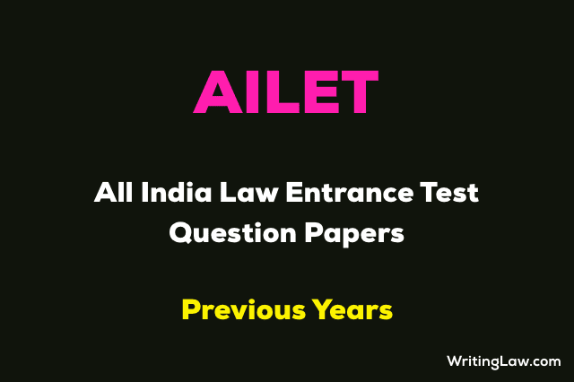 AILET Previous Year Exam Question Papers