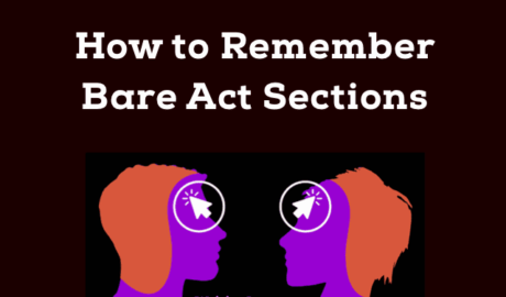 How to Remember Bare Act Sections