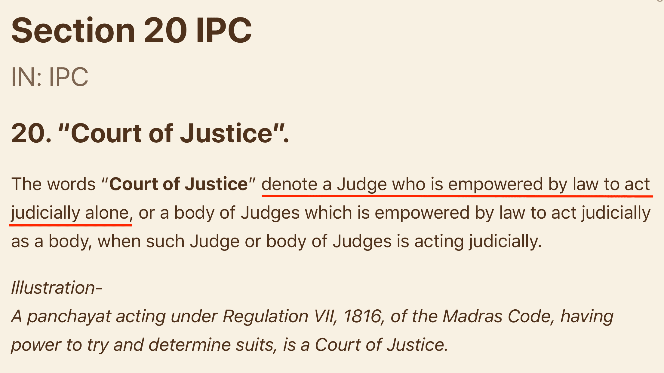 Section 20 of IPC