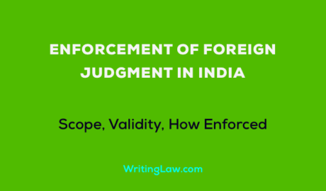 Enforcement of Foreign Judgment in India