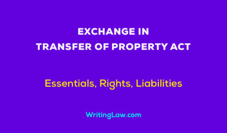 Exchange in Transfer of Property Act