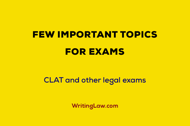 Important Topics for Law Exams