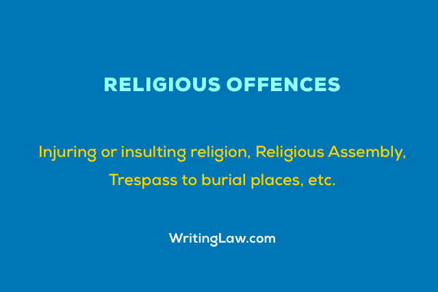 Offences Relating to Religion Under IPC
