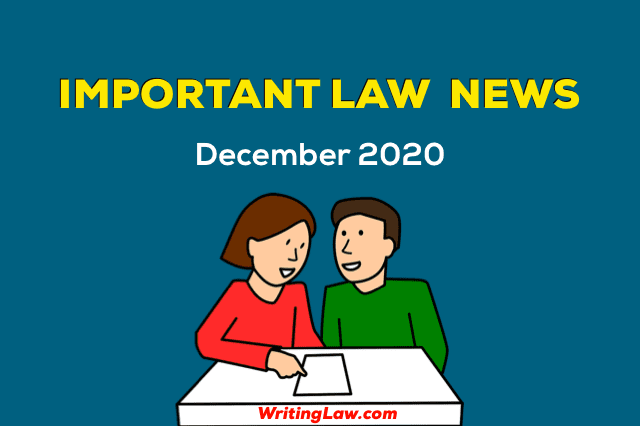 Law News from December 2020 for Students and Advocates