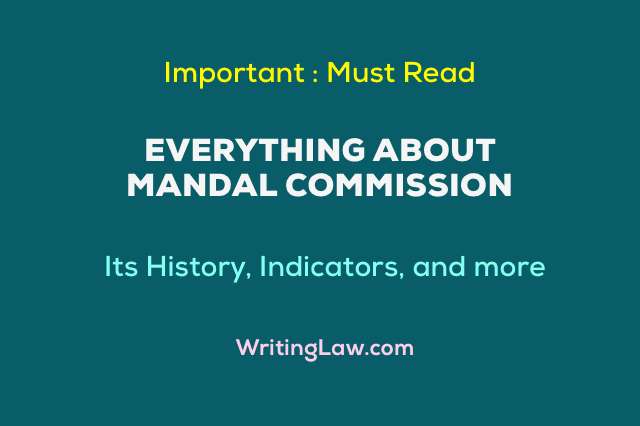 Everything About Mandal Commission