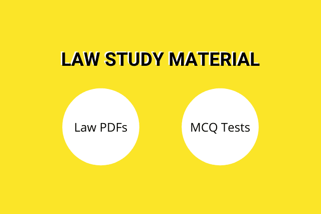Law Study Material PDFs and MCQ Tests