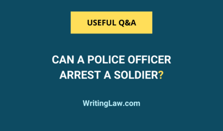Can a police officer arrest a soldier in India?