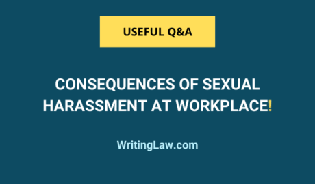 Legal consequences of sexual harassment at the workplace