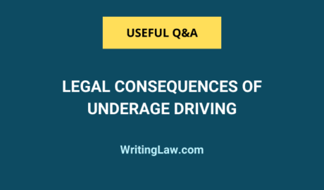 What are the legal consequences of underage driving