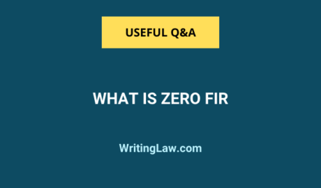 What is Zero FIR in India