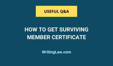 How to Get Surviving Member Certificate in India