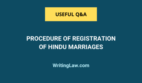 Procedure of Registration of Hindu Marriages in India